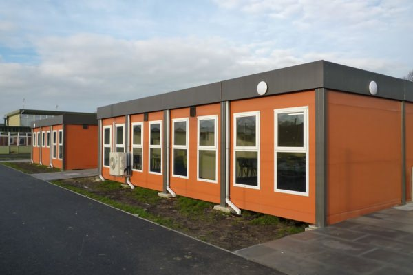 Orange used modular building