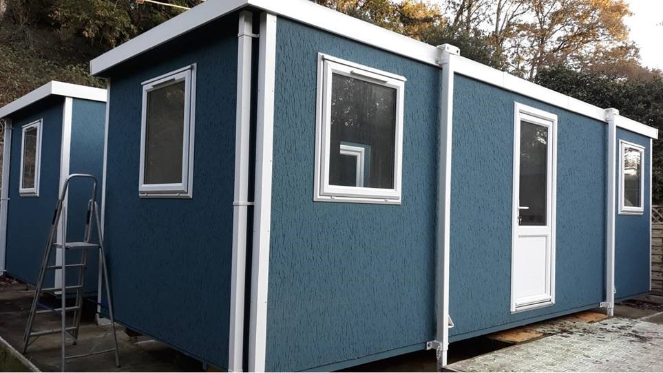 Two portable buildings delivered to Jersey