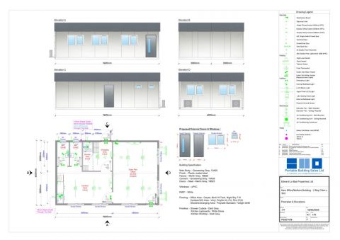 Modular 0ffice and welfare building