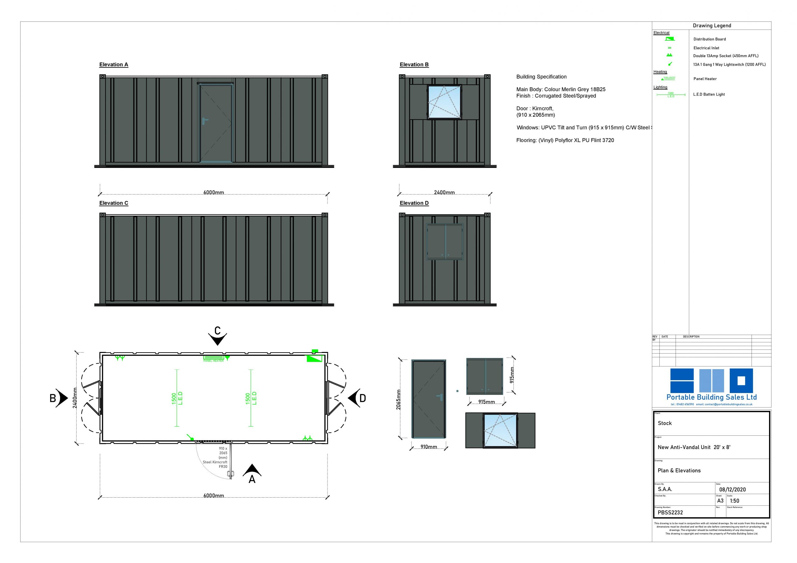 Portable Building Drawing Image