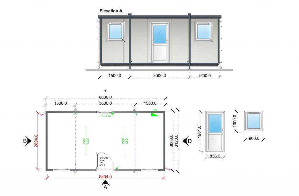 portable buildings, temporary buildings, portable office cabin